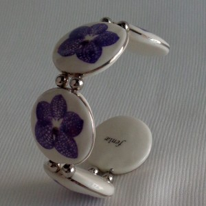 Round shape bangle, vanda style A, striped, Purple